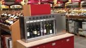 Wine dispenser at Metro Bulgaria
